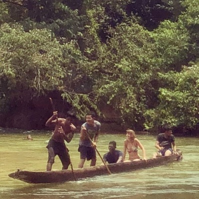 Exploring the river at Mocoron with our boys.